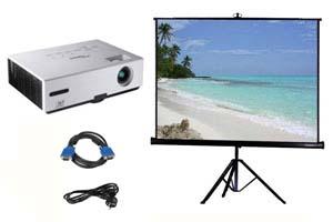 Alquiler pack proyector y pantalla